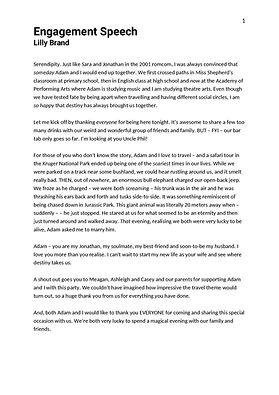 Darryn Sara - Engagement Speech - 18 Feb