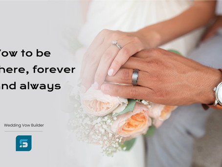 Vow to Make Your Wedding Prep Easier with the One-and-Only Wedding Vow Builder