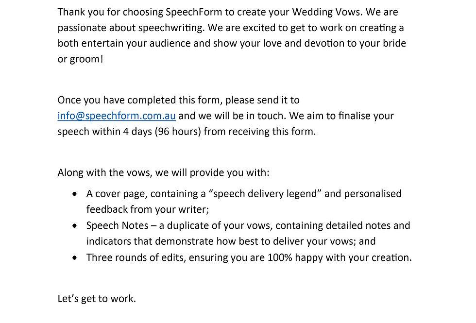 Wedding Vows - Custom