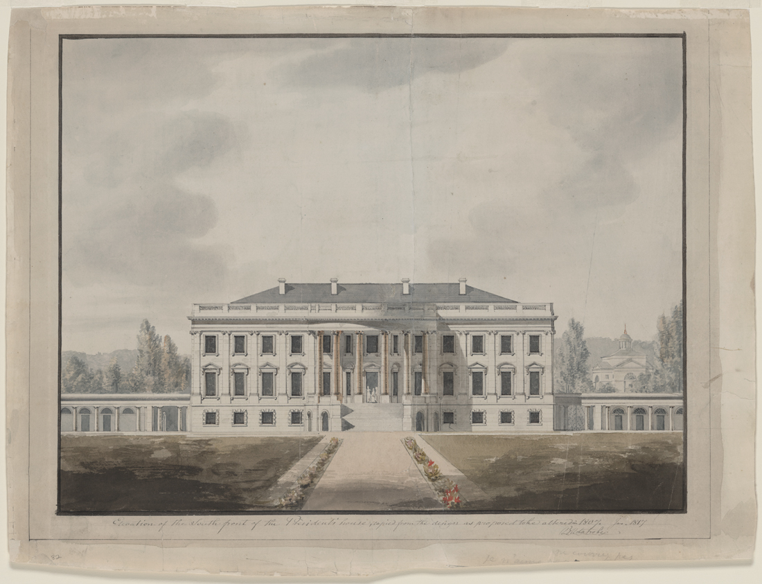 Early White House Elevation
