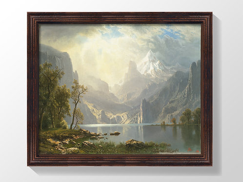 "Framed Canvas Print of ""Sierra Nevada"" (no glass)"