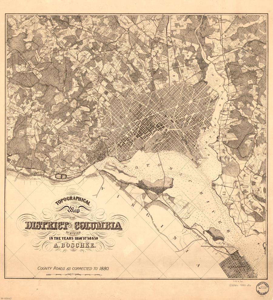 Washington, D.C. Map 1880