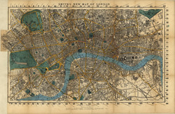 Map of London 1860