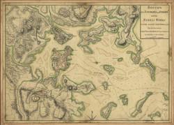 Map of British Controlled Boston