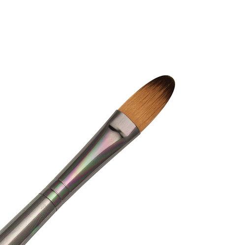 Zen Series 73 Synthetic All Media Short Handle Brush - Filbert 12