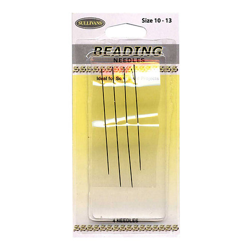 Embroidery Needles - Beading Needles sizes 10 - 13 - 4/Pkg