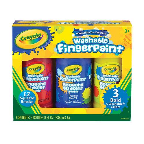 Crayola Washable Fingerpaint 3-Color Set - Bold Colors