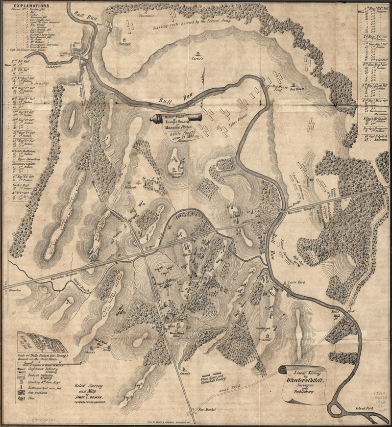 Bull Run Manassas Map