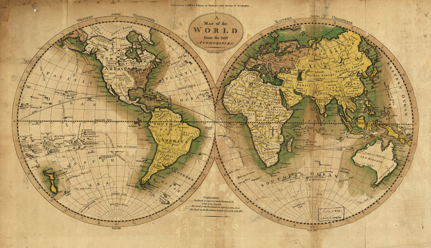 18th Century World Map