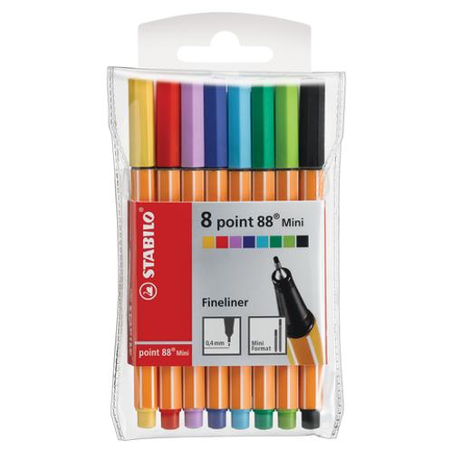 Stabilo Pen 88 Pen Mini Set -  8 Color