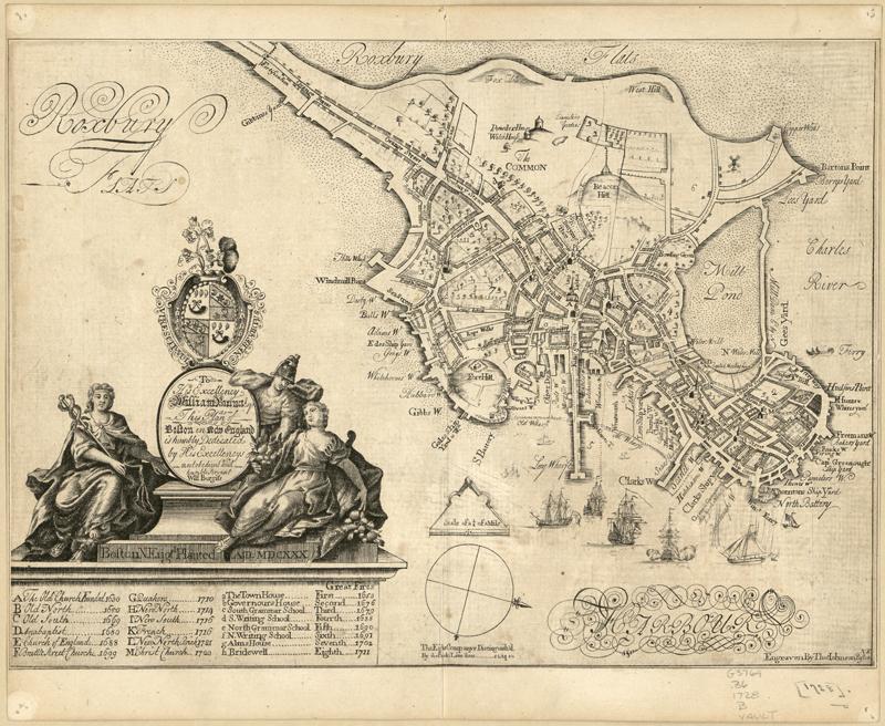 Boston British Plans 1728