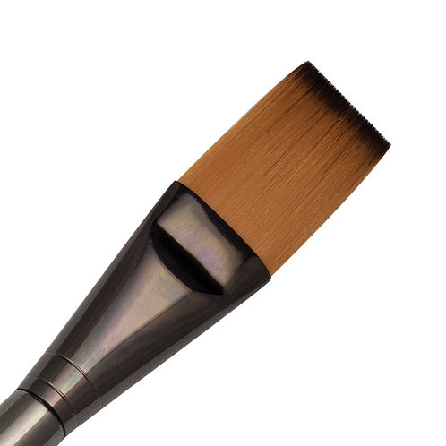 "Zen Series 73 Synthetic All Media Short Handle Brush - Single Stroke 1"""
