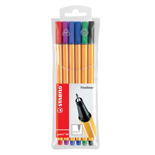 Stabilo Pen 88 Pen Wallet Set -  6 Color