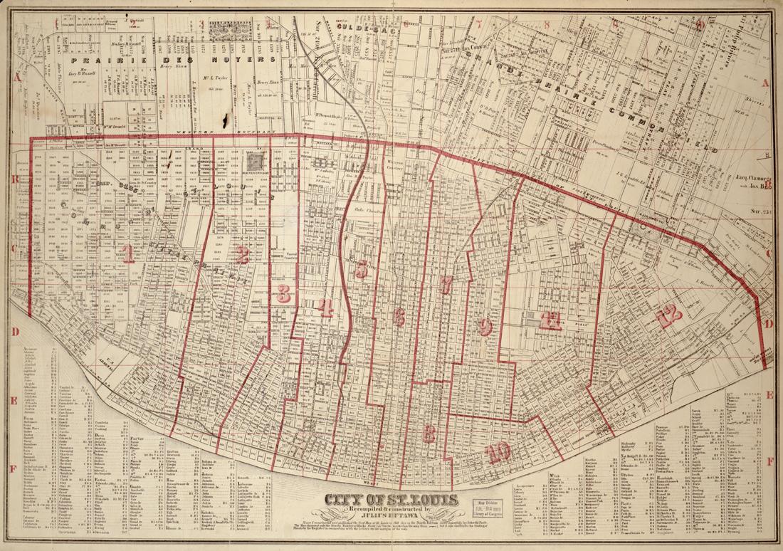 St. Louis Map 1919