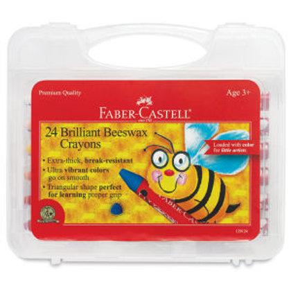 Jumbo Beeswax Crayons - 24