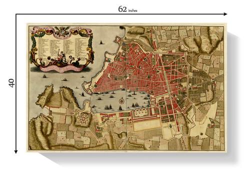 Medieval Port of Marseille Map Frames Denver Time Capsule Framing