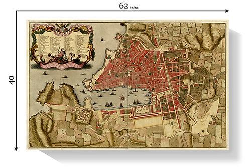 Frames Denver Time Capsule Framing Medieval Port of Marseille Map