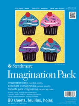 "Strathmore Kids Imagination Pack, 9"" x 12"" 80 Sheets"