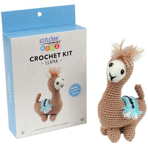 Fabric Editions Crochet Kit - Llama