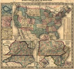 US map Civil War