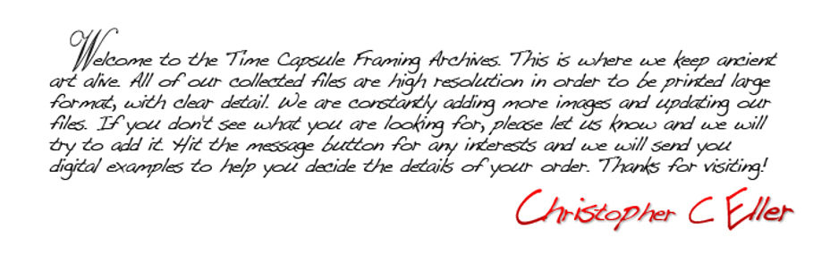 Time Capsule Framing Welcome Statement
