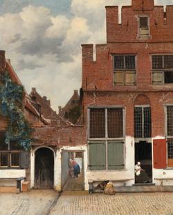 Gezicht op huizen in Delft