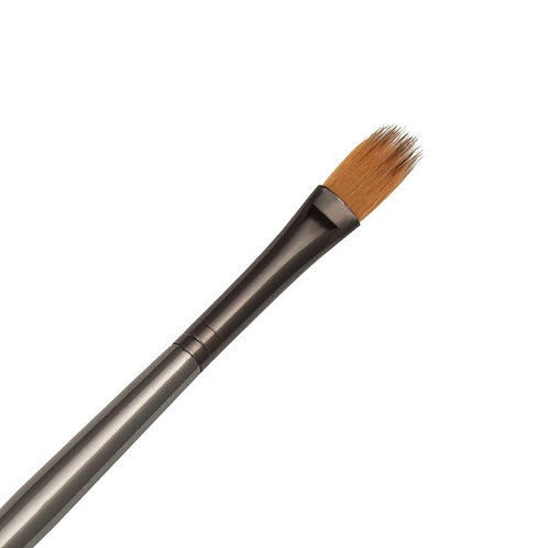 Zen Series 73 Synthetic All Media Short Handle Brush - Filbert Comb 1/4""