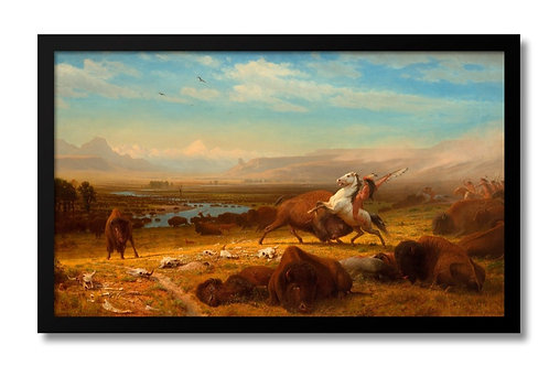 "Framed Canvas Print of ""Last of the Buffalo"" (no glass)"