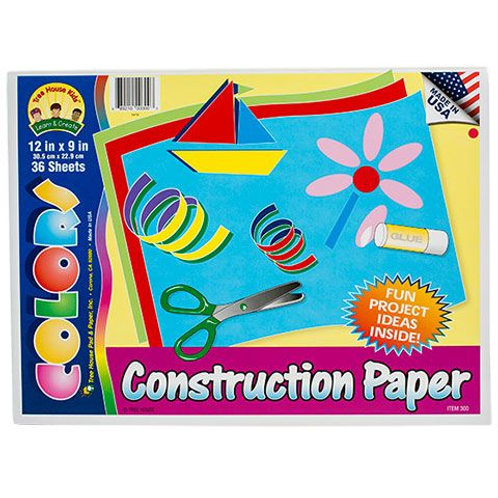 Construction Paper Pad - 36 Sheets 12x9