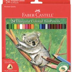 Triangular Colored EcoPencil Sets - 24 Color Set