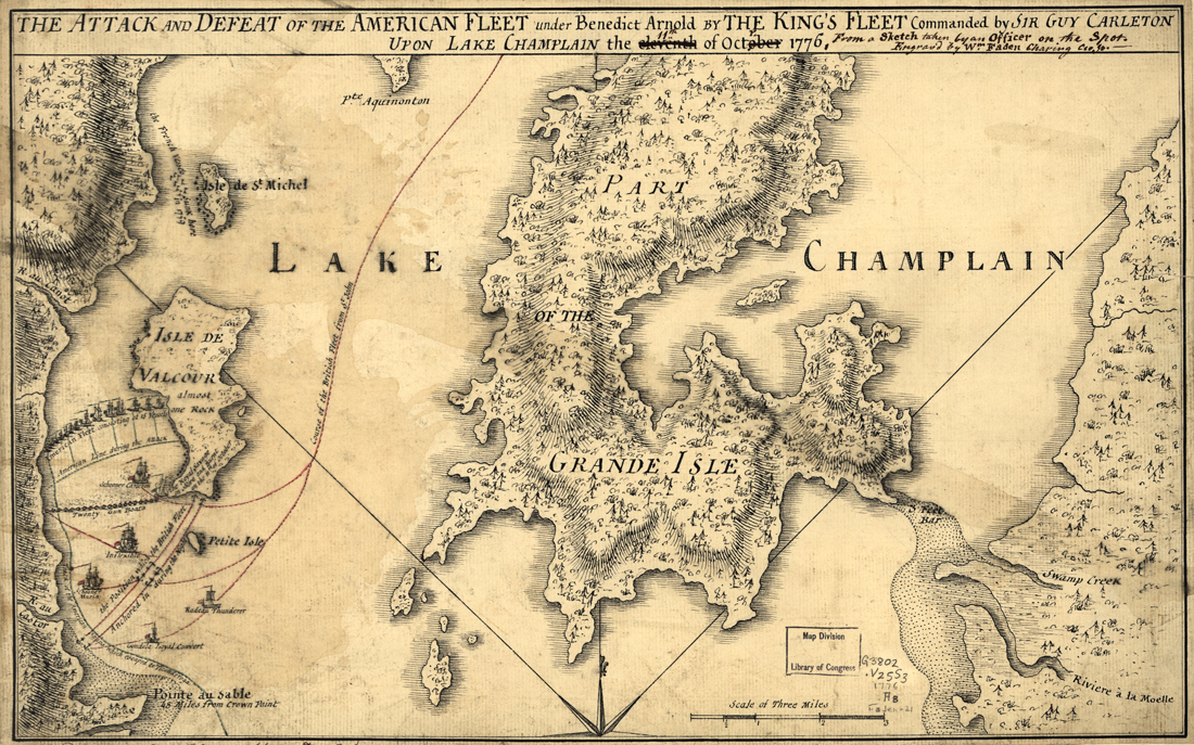 Lake Champlain Battle Map