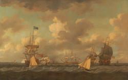 English Ships Coming to Anchor