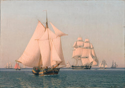 Ships Under Sail in a Mild Breeze