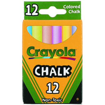 Crayola Chalk - Colored (12/Box)