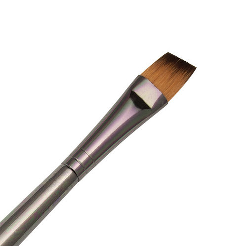 Zen Series 73 Synthetic All Media Short Handle Brush - Angle Shader 1/2