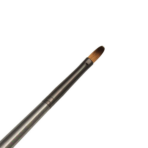 Zen Series 73 Synthetic All Media Short Handle Brush - Filbert 4