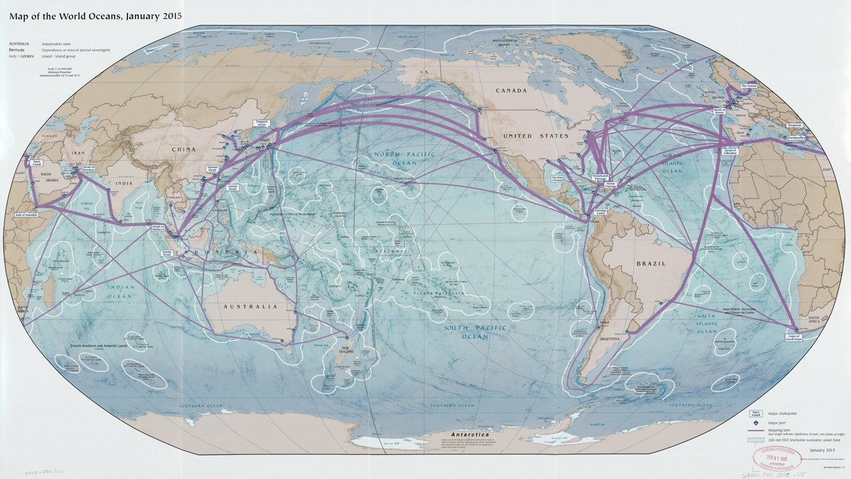 Map of Global Shipping Lanes
