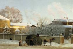 Annankatu on a Cold Winter Morning