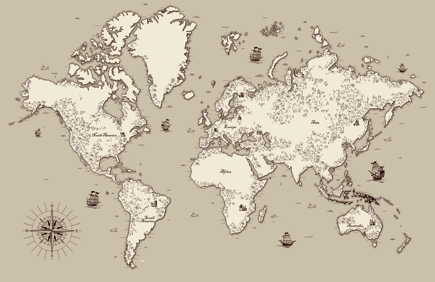 Simple World Map