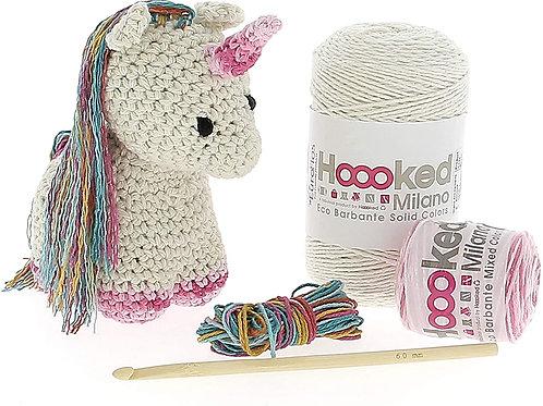 Hoooked Unicorn Nora Yarn Kit W/ Eco Barbante Yarn