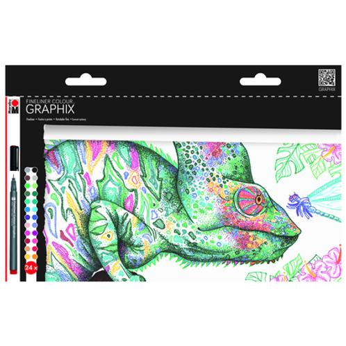 Marabu Graphix Fineliner Sets - 24 Color Hypnotize Set