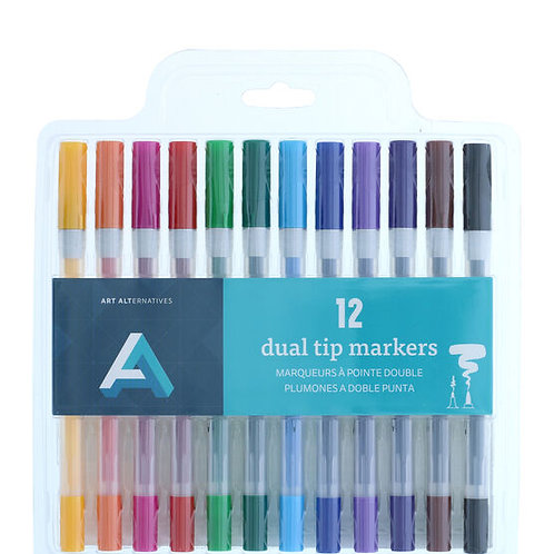 Art Alternatives Dual Tip Markers Set - 12