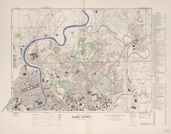 Map of Rome, Italy 1944