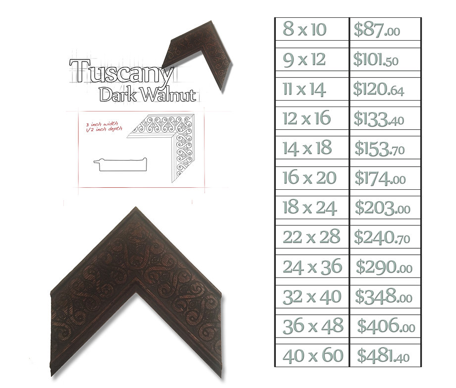 Time Capsule Framing Tuscany Dark Walnut Frame and Price