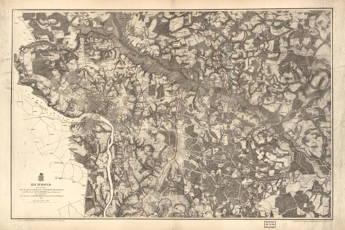 Civil War Map of Richmond, VA