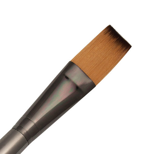 Zen Series 73 Synthetic All Media Short Handle Brush - Single Stroke 3/4""