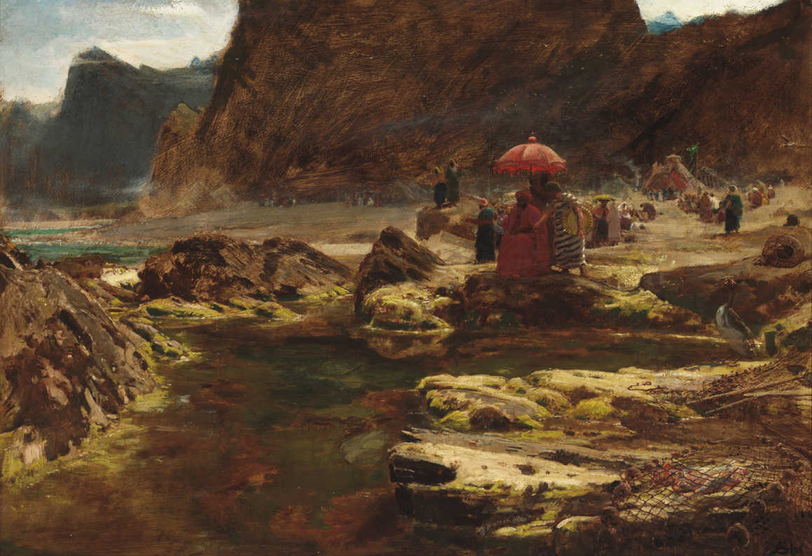 Albert_Goodwin_-_The_Sultan_and_his_camp_by_the_enchanted_lake_-_Google_Art_Project