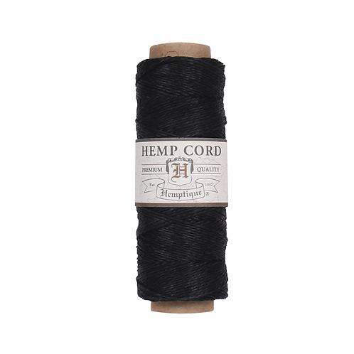Hemptique Hemp Cord Spool - 10 lb. Black