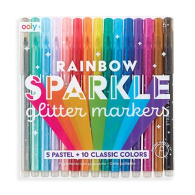 OOLY Rainbow Sparkle Glitter Marker Set