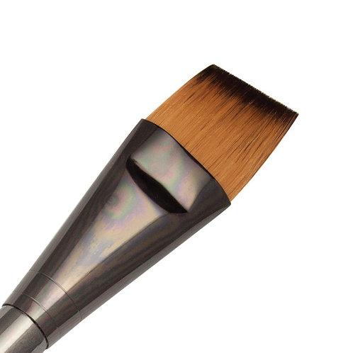Zen Series 73 Synthetic All Media Short Handle Brush - Angle Shader 1